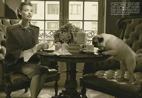 """The Duchess"" Vogue Italy, fashion pugs"